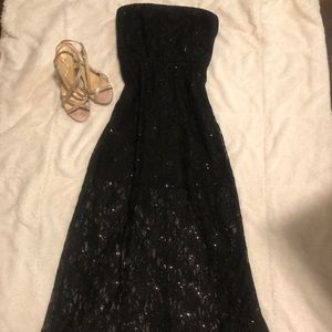 Bisou Bisou Strapless Formal Sequined Dress-Sz 4